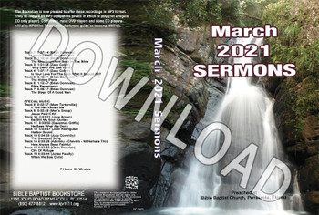March 2021 Sermons  - Downloadable MP3