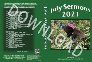 July 2021 Sermons  - Downloadable MP3