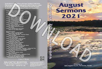 August 2021 Sermons  - Downloadable MP3