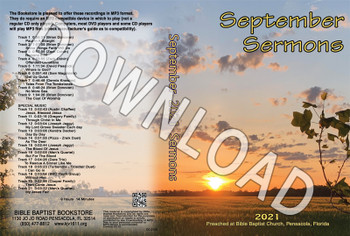 September 2021 Sermons  - Downloadable MP3