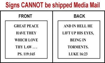 Scripture Sign - Psalms 119:165 and Luke 16:23