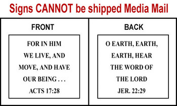 Scripture Sign - Acts 17:28 and Jeremiah 22:29