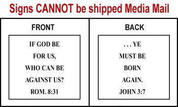 Scripture Sign - Romans 8:31 and John 3:7