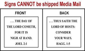 Scripture Sign - Joel 2:1 and Haggai 1:5
