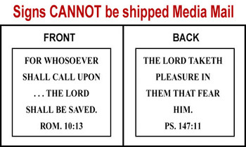 Scripture Sign - Romans 10:13 and Psalms 147:11