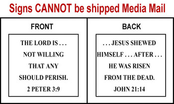 Scripture Sign - 2 Peter 3:9 and John 21:24