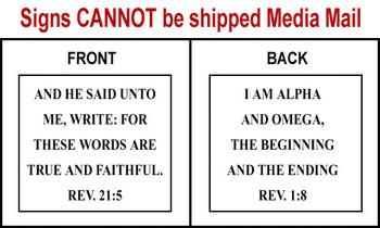 Scripture Sign - Revelation 21:5 & Revelation 1:8