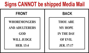 Scripture Sign - Hebrews 13:4 and Jeremiah 17:17