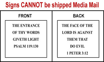 Scripture Sign - Psalms 119:30 and 1 Peter 3:12