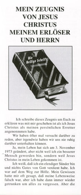 German: Personal Testimony of Karin McGuire - Tract