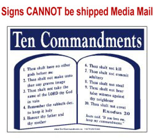 Scripture Sign - The Ten Commandments
