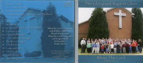 Bless the Lord - Gloryland Baptist Choir CD