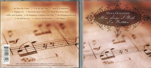 More Songs I Wish I'd Written - Mina Oglesby CD