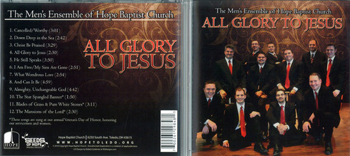 All Glory To Jesus - Men's Ensemble CD