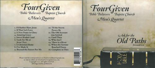 Four Given - Men's Quartet CD