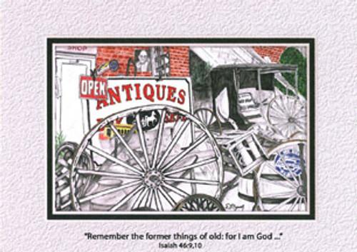 KJV Scripture Thank You Cards - Antiques (6-pack)