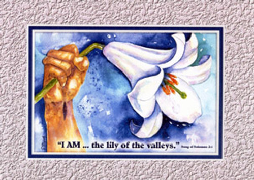 KJV Scripture Blank Greeting Cards - Lily Of The Valley (6-pack)