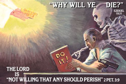 Why Will Ye Die - Banner (more sizes available)
