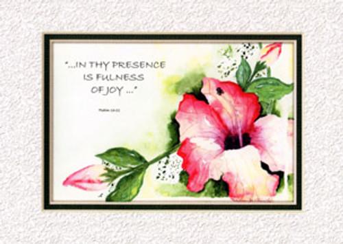 KJV Scripture Blank Greeting Cards - Hibiscus