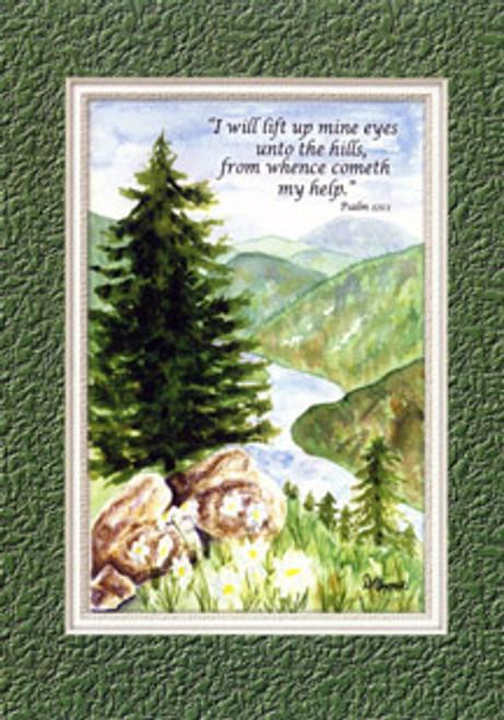 KJV Scripture Blank Greeting Card - Rockies