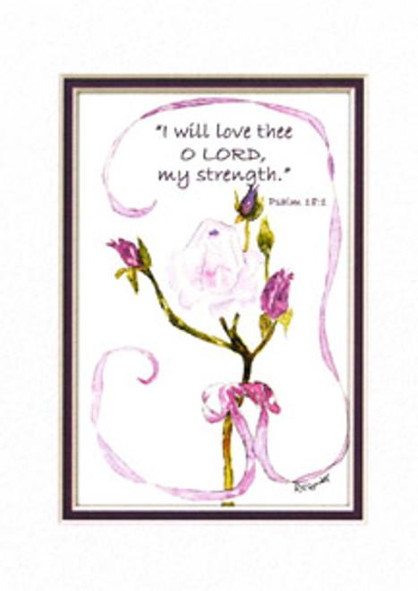 KJV Scripture Birthday Card - Pink Tea Rose