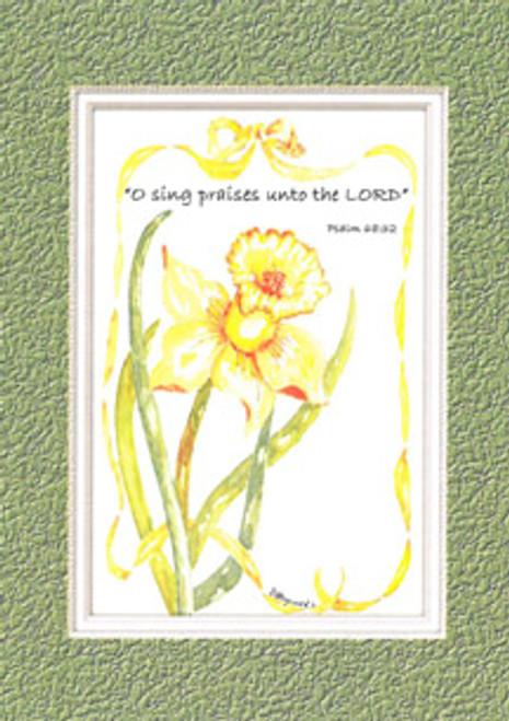 KJV Scripture Birthday Card - Yellow Daffodil