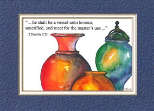 KJV Scripture Birthday Card - Vessels