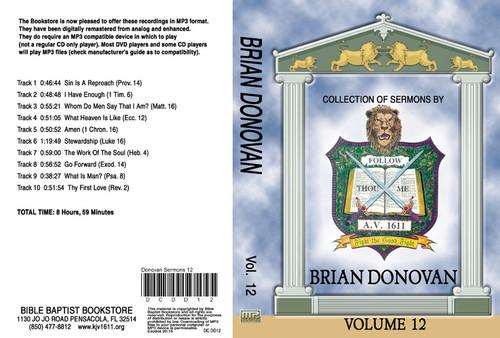 Brian Donovan Sermons on MP3 - Volume 12