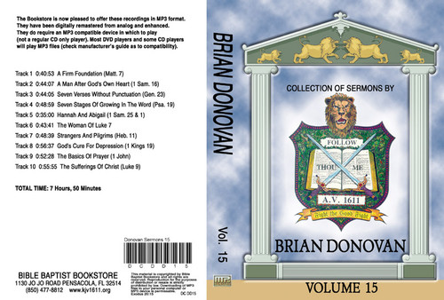 Brian Donovan Sermons on MP3 - Volume 15