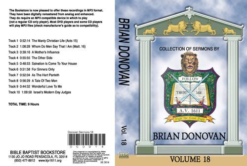 Brian Donovan Sermons on MP3 - Volume 18