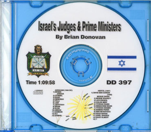 Brian Donovan: Israel's Judges and Prime Ministers CD
