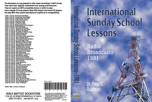 International Sunday School Lessons 1981 - MP3