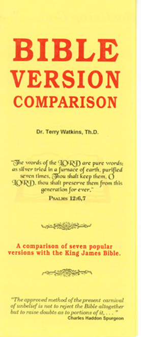 Bible Version Comparisons - Tract