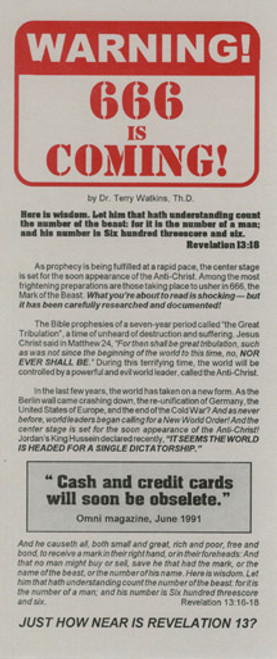 Warning: 666 is Coming! - Tract