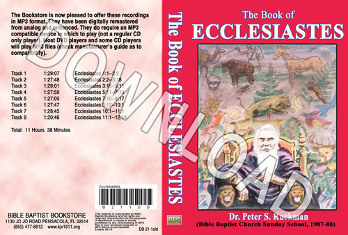 Ecclesiastes (1987) - Downloadable MP3
