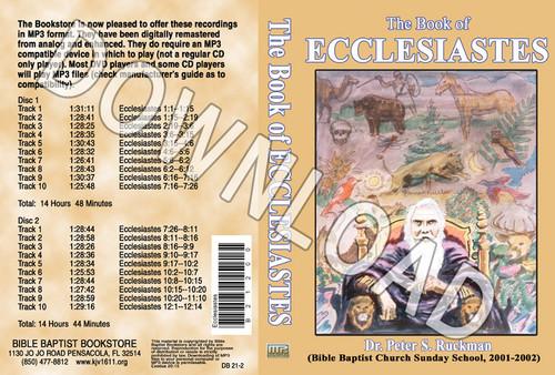 Ecclesiastes (2001) - Downloadable MP3
