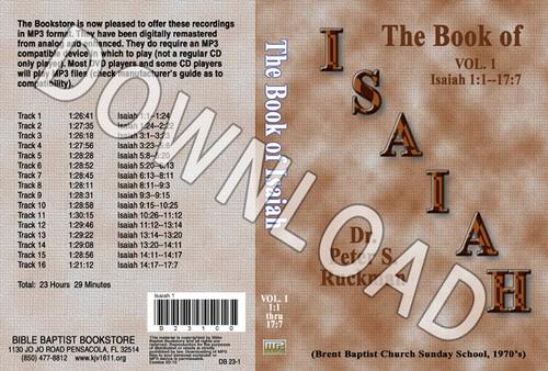 Isaiah, Volume 1 - Downloadable MP3