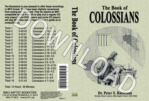 Colossians - Downloadable MP3