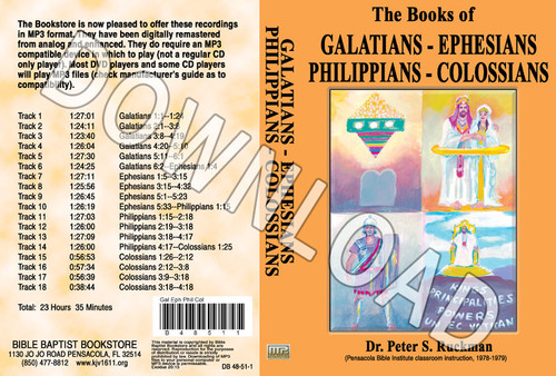 Galatians, Ephesians, Philippians, Colossians - Downloadable MP3