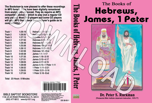 Hebrews, James, 1 Peter - Downloadable MP3