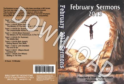 February 2013 Sermons - Downloadable MP3