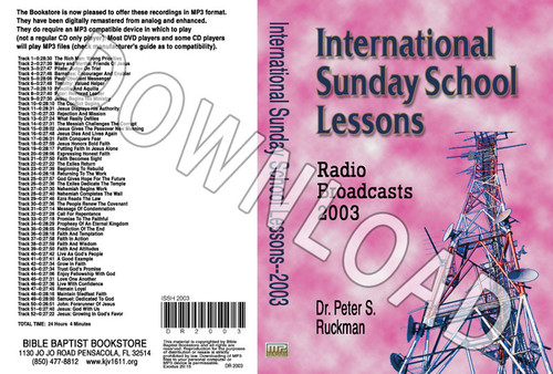 International Sunday School Lessons 2003 - Downloadable MP3