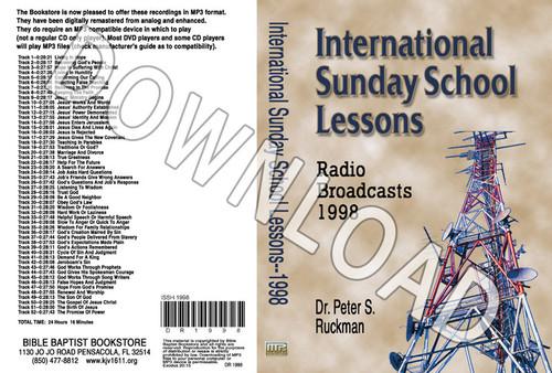 International Sunday School Lessons 1998 - Downloadable MP3