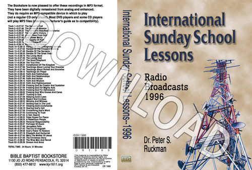 International Sunday School Lessons 1996 - Downloadable MP3