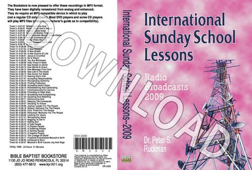 International Sunday School Lessons 2009 - Downloadable MP3