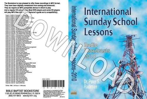 International Sunday School Lessons 2010 - Downloadable MP3