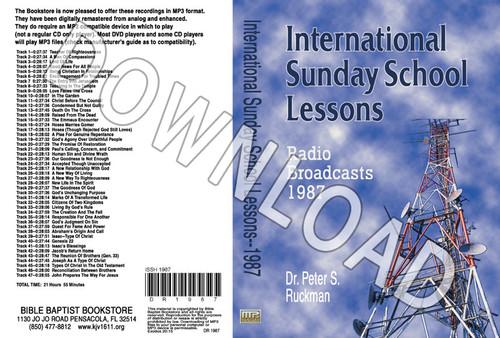 International Sunday School Lessons 1987 - Downloadable MP3
