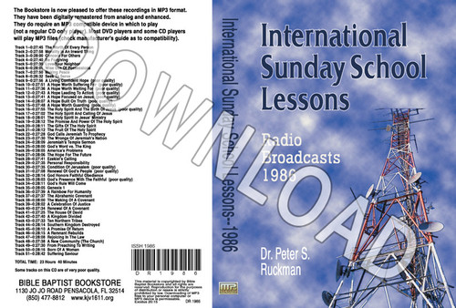 International Sunday School Lessons 1986 - Downloadable MP3
