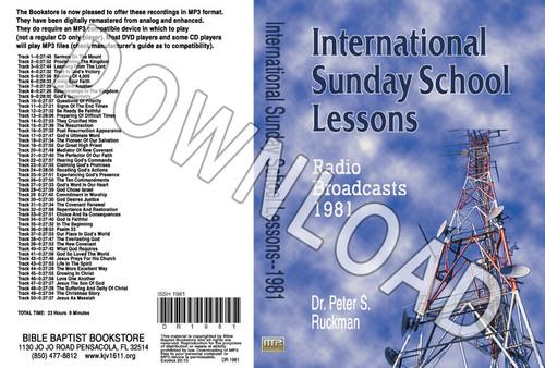 International Sunday School Lessons 1981 - Downloadable MP3
