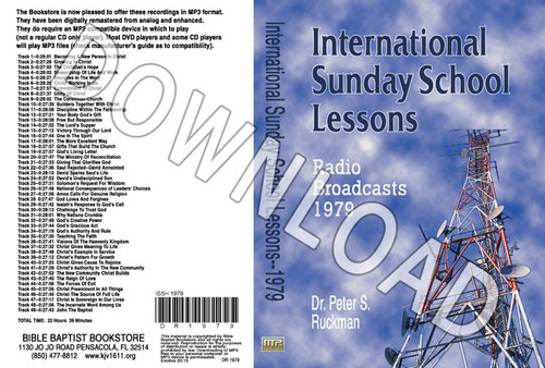 International Sunday School Lessons 1979 - Downloadable MP3